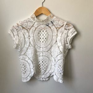 THE VINTAGE SHOP White Crop Top